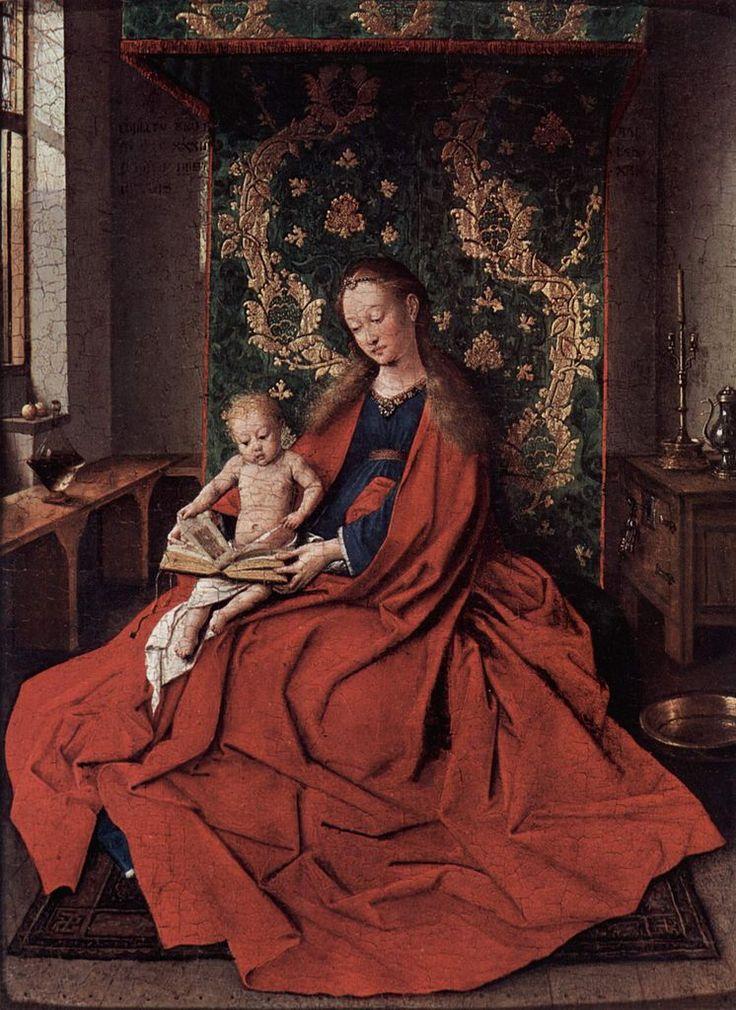Jan Van Eyck - Madonna mit dem lesenden Kinde