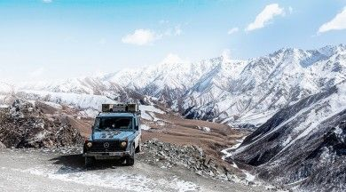"""Mike Horn's new """"Pole2Pole"""" expedition gets under way in the Mercedes-Benz G-Class."""