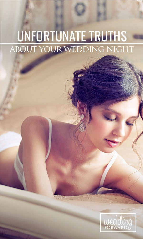 Despite your expectations, things may not go quite the way you planned on your wedding night ❤ Keep Reading: http://www.weddingforward.com/unfortunate-wedding-night-truths/ #weddings #ideas