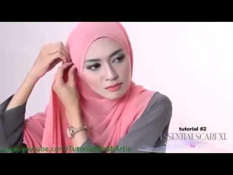 Cara Berjilbab wajah Bulat - Hijab pashmina simple Kreasi Shawlbyvsnow Hijab Tutorial - YouTube