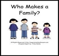 My Family Theme Make A Class Book In Which Each Child Draws Their