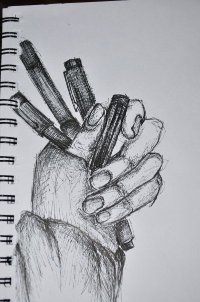 What I draw today?  (material: pen)