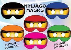 Sofortiger Download 6 Masken druckbare Ninjago!! Sie möchten Ihre Ninjago-Party besonders machen! 6 Ninjago Masken um Gäste glücklich zu machen! Gerade Schneiden das Loch Runde Augen, kleben Sie diese Partei Brille oder macht ein kleines Loch auf jeder Seite der Maske und elastische anfügen. Du erhältst Folgendes: ˙ 2 Zip-Dateien - 6 Jpeg-Dateien, hochauflösend, Papierformat 8,5 X 11 ˙ jeder Maske ist 8 Zoll Breite ˙ SOFORT-DOWNLOAD (Bitte überprüfen Sie Ihre Spam-Mails) ❀You kann zu...