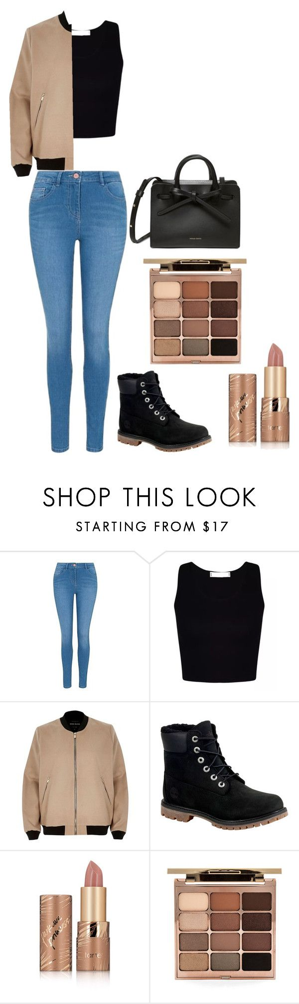 """""""How to wear a bomber"""" by ifrancesconi on Polyvore featuring George, River Island, Timberland, tarte, Stila, casual, teen, teenstyle and teenfashion"""