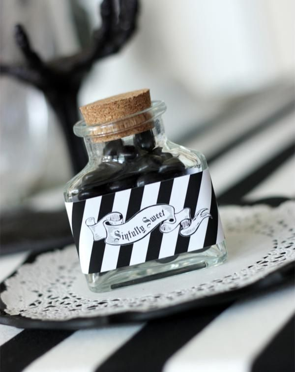 black and white sophistictated old movie halloween party idea via karas party ideas www - Black And White Halloween Party