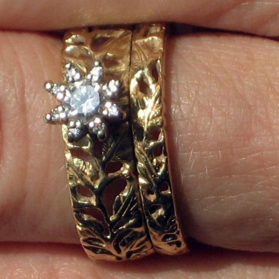 1970 S Wedding Ring Sets Orange Blossom Rings Vintage