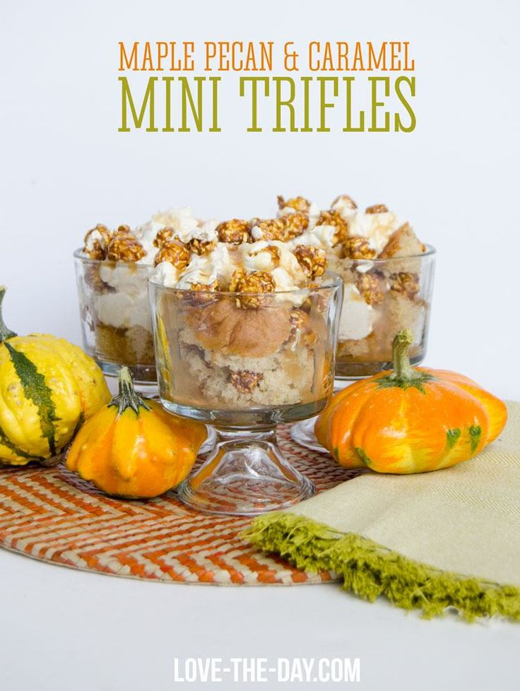World Market saves the day with your fall entertaining! Caramel, maple popcorn and mini trifle dishes make for delicious Maple Pecan & Caramel mini trifles.