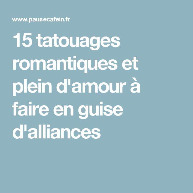 15 tatouages romantiques et plein d'amour à faire en guise d'alliances