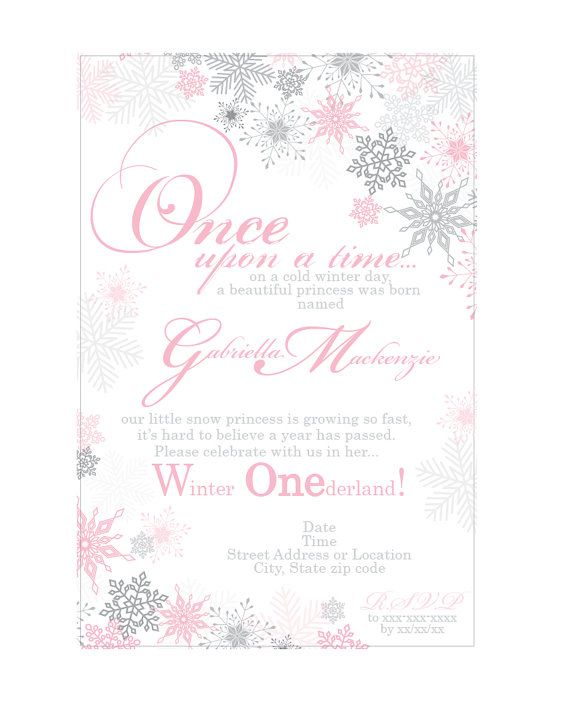 best 25+ snowflake invitations ideas on pinterest | frozen, Party invitations