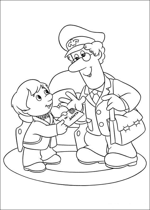 Postmand Per Tegninger til Farvelægning 22