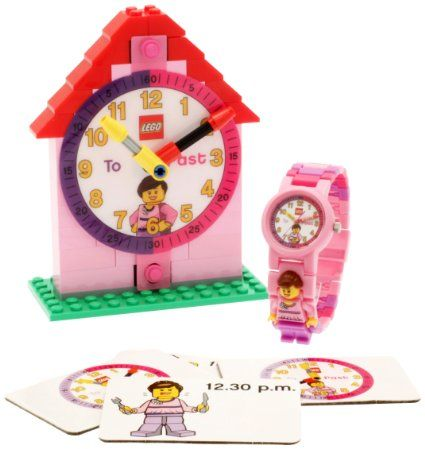"LEGO Girls' 9005039 ""Time Teacher"" Set with Mini-Figure Link Watch, Constructible Clock, and Activity Cards"