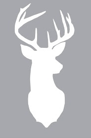 Free printable deer silhouette from All Thyme Favorite.