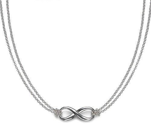 Infinity Necklace with Double Chain
