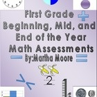 This is a 30 bundled pack of my beginning, middle, and end of the year math assessments for first grade. $4.50