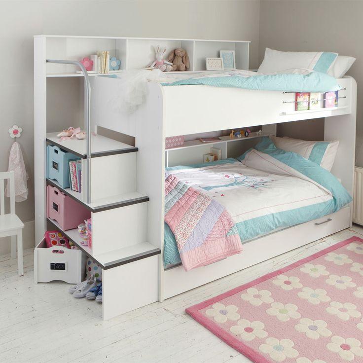 High Up Beds Part - 19: Harbour White Storage Bunk Bed - Cabin, High Sleeper U0026 Bunk Beds - Beds U0026