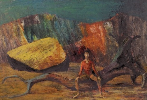 Russell Drysdale- Boy On a log- 1953 est 300-400k