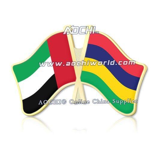 Лучшие продажи смешивать и сочетать объединенные арабские эмираты и для маврикий скрещенные отворотом флагов