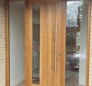 Contemporary Oak Front Door