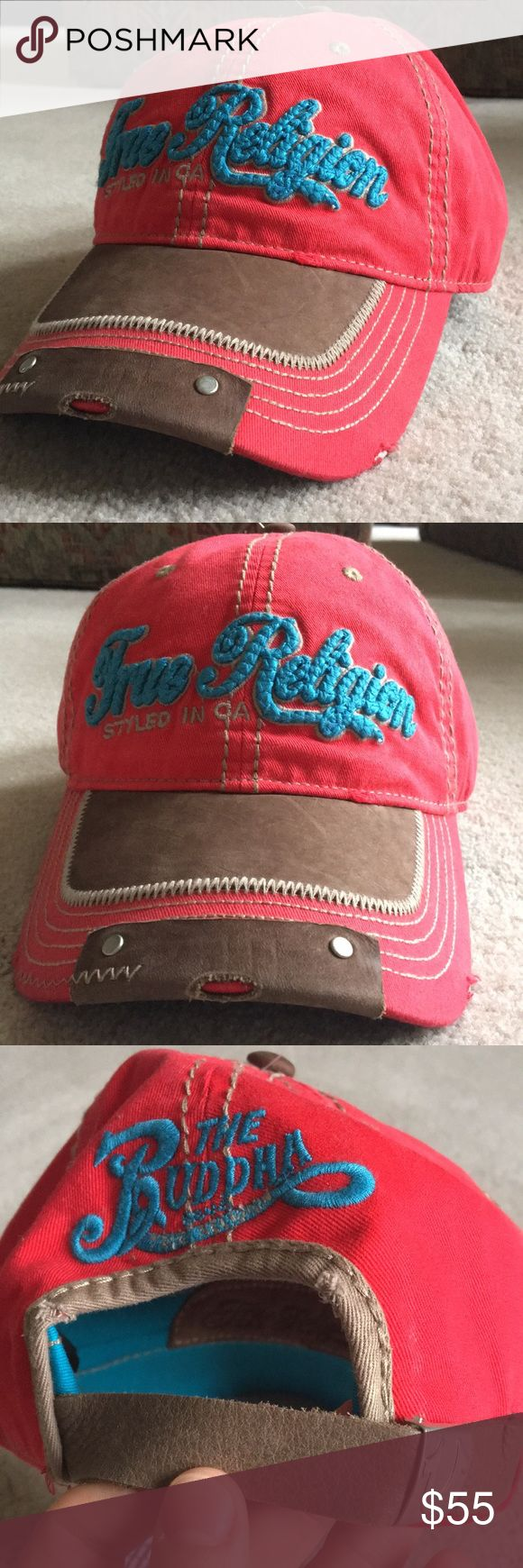 "NWT True Religion hat NWT True Religion ""styles in CA"" hat. Made in China. One size fits all. Adjustable fit. Style#TR1698. Color: True red. 100% cotton. Happy poshing☺️✌️ True Religion Accessories Hats"