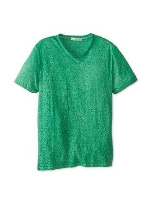 50% OFF Threads 4 Thought Men's Burnout Washed V-Neck T-Shirt (Emerald)