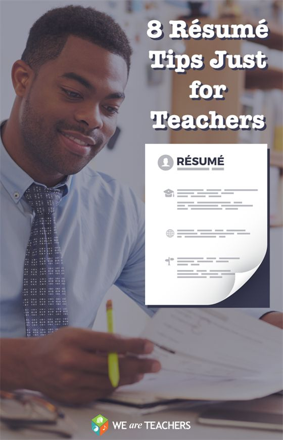 Resume Tips Just for Teachers Looking for