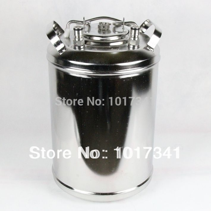 12 Liter Ball Lock Cornelius style Beer Keg, Brand New SS304, Closure Lid with Pressure Relief Valve