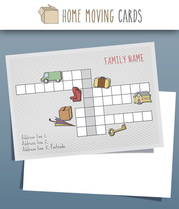 7 best ideas about change of address cards templates on for Moving home cards template