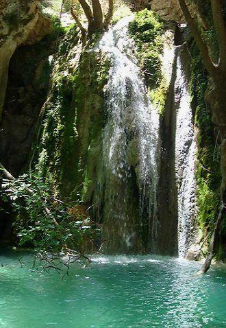 Waterfall of Mylopotamos, Kythira Island, Greece