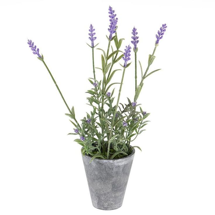 Pot With Artificial Flower - inart