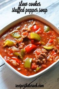 Slow Cooker Stuffed Pepper Soup is a reader favorite and one of our most popular slow cooker recipes!