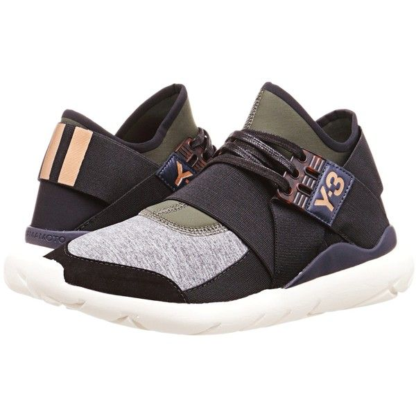 5804ca1242a97 adidas Y-3 by Yohji Yamamoto Qasa Elle Lace (Night Cargo Black Medium...  ( 385) ❤ liked on Polyvore featuring shoes
