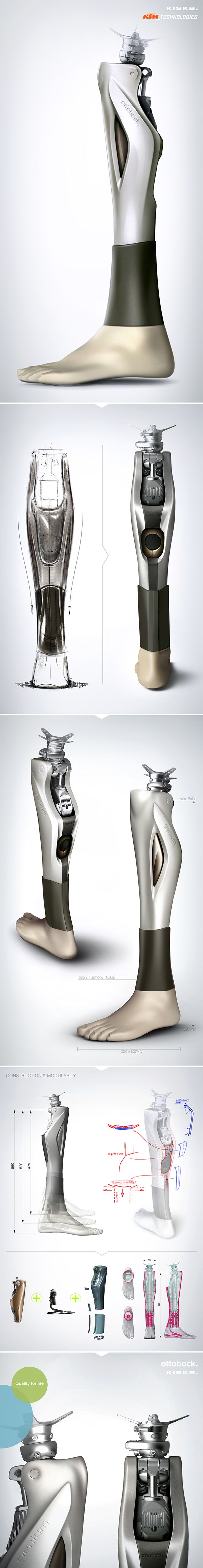 Ottobock Prosthetic Cover / Designed by KISKA on Industrial Design Served