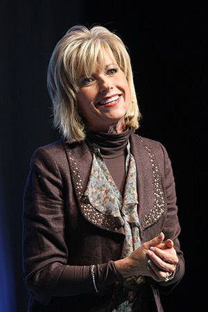 Bible study author Beth Moore shares with women attending the 15th  anniversary celebration of the Women's Ministry Leadership Forum, held at  LifeWay ...