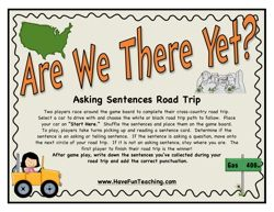 are we there yet asking sentences activity
