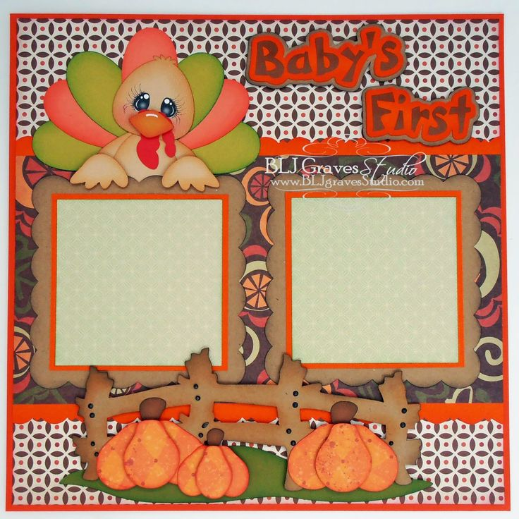 BLJ Graves Studio: Baby's First Thanksgiving Double Page Layout – BLJ Graves