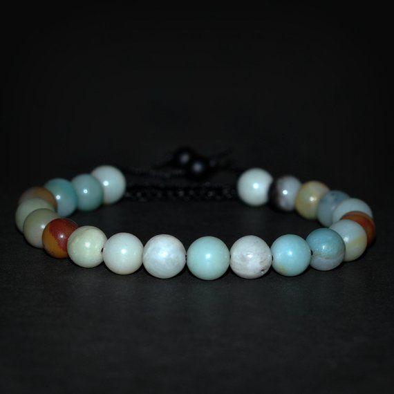 Amazonite bracelet, amazonite jewelry, heart chakra bracelet, pure energy bracelet, healing stone braceler, meditation bracelet, yoga bracelet, protec…