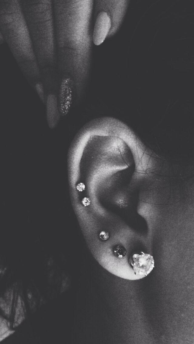 Ear piercing. #piercings #placement #cartilage