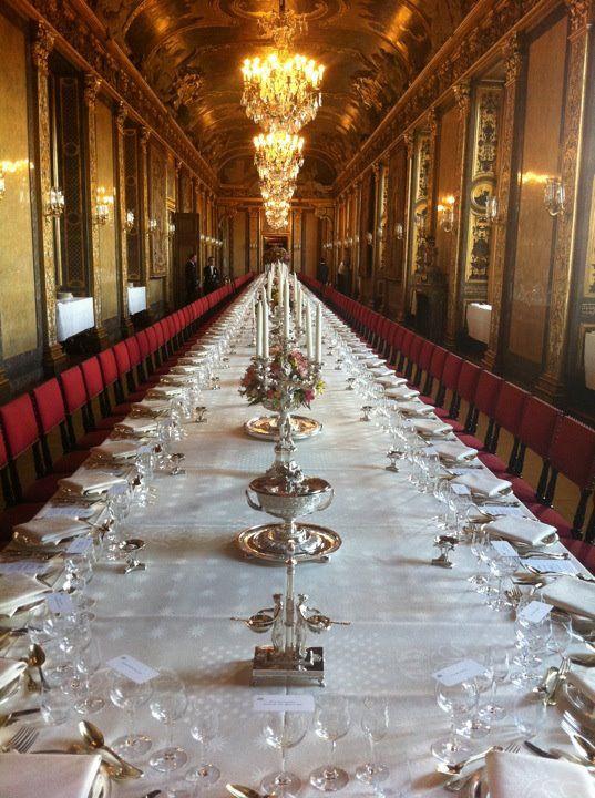 Banquet Hall At Swedish Royal Palace In Stockholm