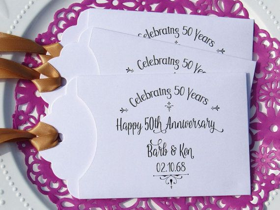 50th Anniversary Favors Anniversary Party Lottery Ticket