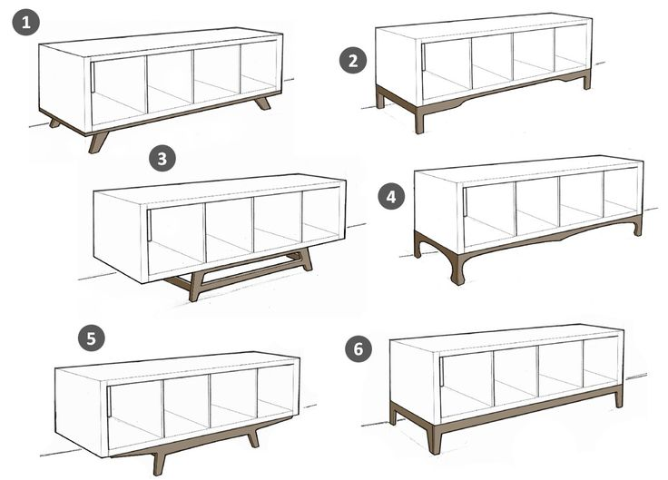 So wird dein Ikea Kallax Regal zum angesagten Midcentury Lowboard! Welches Design ist dein Favorit? Bitte schreib uns einen Kommentar! / Turn your Ikea Kallax shelf to a cool midcentury lowboard! What's your favorite? Please vote!