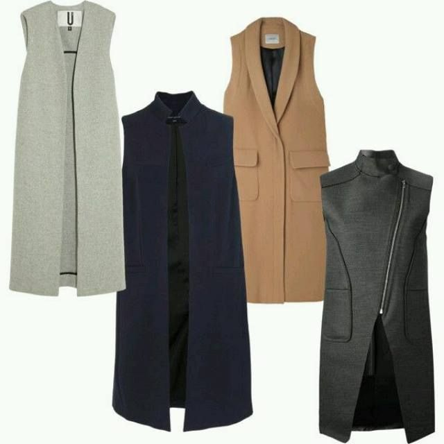 Sleeveless coat