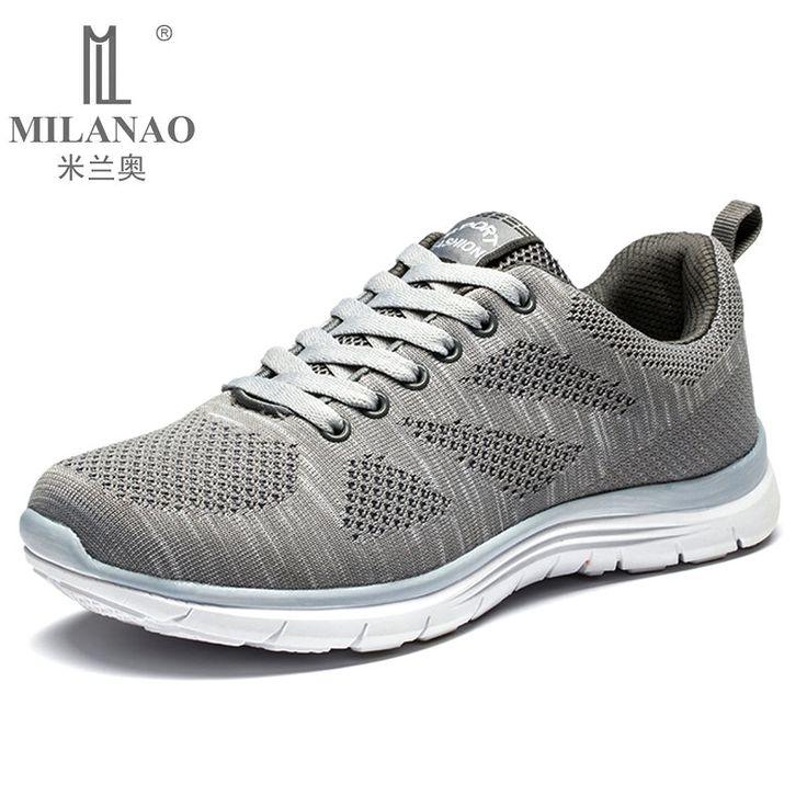 2016 MILANAO Nieuwe Sport Flyknit Racer Loopschoenen Voor Mannen & Vrouwen. ademende mannen Atletische Sneakers Krasovki zapatillas