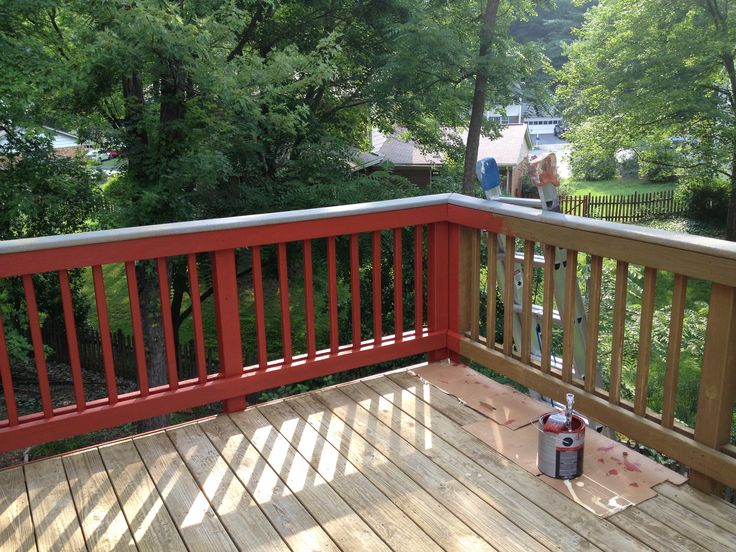 Deck Staining Solid Color Stain Navajo Red Sikkens