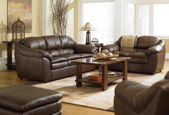 Living Room Decorating Ideas with Brown Leather Furniture ...