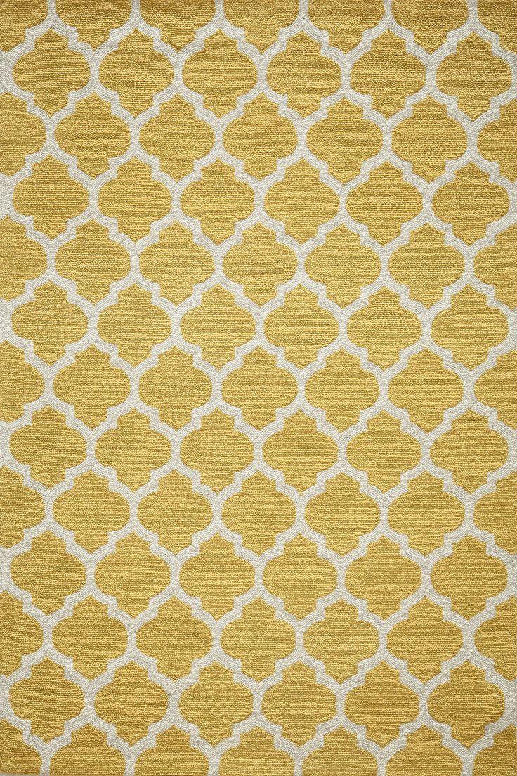 geo yellow hooked rug for sale wayfair