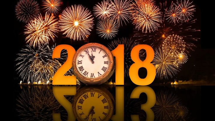 Happy New Year 2018 Clock Fireworks Hd Wallpapers 1920×1200