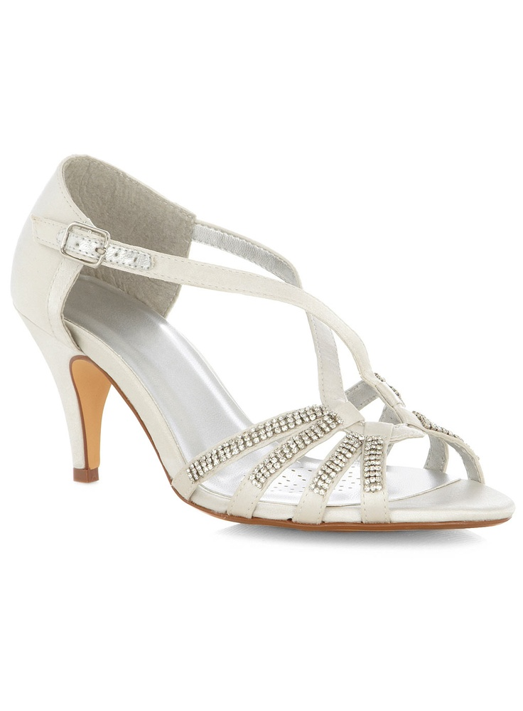 Wide Silver Heels - Red Heels Vip