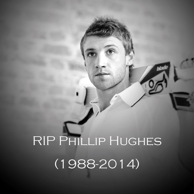 The entire cricketing family today mourns the tragic passing of Australia batsman Phillip Hughes. Rest in Peace.  In 2009, Hughes became the youngest man to score a ton in each innings of a Test, and Michael Clarke recently predicted that he'd one day reach the 100-Test milestone.