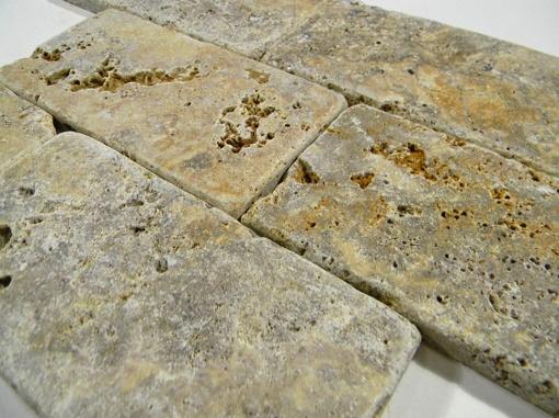 Tuscany Scabas Travertine Tumbled 3x6 Tile Glass Tile