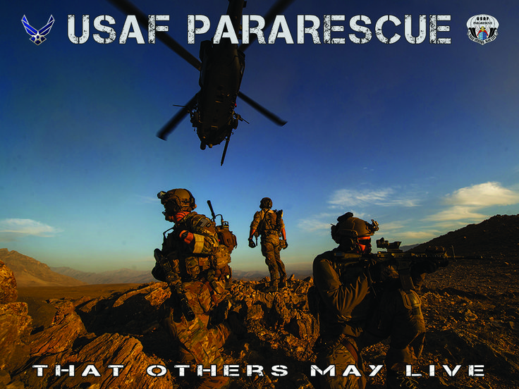 Pararescue Poster Usaf pararescue, Military photos, Air